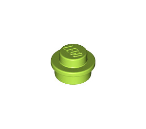 LEGO Lime Round Plate 1 x 1 (6141)