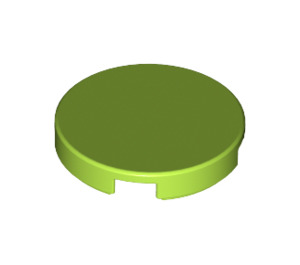 LEGO Lime Round Tile 2 x 2 with Bottom Stud Holder (14769)