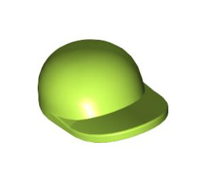 LEGO Lime Short Curved Bill Cap with Short Curved Bill (86035)