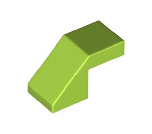LEGO Lime Slope 1 x 2° 45 (28192)