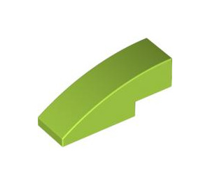 LEGO Lime Slope 1 x 3 Curved (50950)
