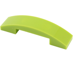 LEGO Lime Slope 1 x 4 Curved Double (93273)