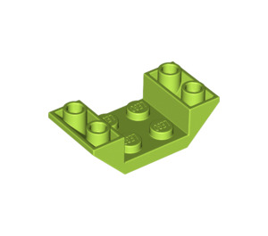LEGO Lime Slope 2 x 4 (45°) Double Inverted with Open Center (4871)