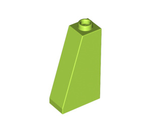 LEGO Lime Slope 75 2 x 1 x 3 with Hollow Stud (4460)