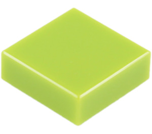 LEGO Lime Tile 1 x 1 with Groove (3070)