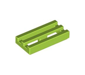 LEGO Lime Tile 1 x 2 Grille (with Bottom Groove) (2412)