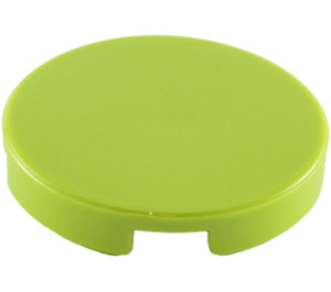 """LEGO Lime Tile 2 x 2 Round with """"X"""" Bottom (4150)"""