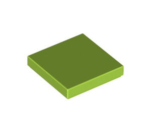 LEGO Lime Tile 2 x 2 with Groove (3068)