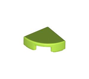 LEGO Lime Tile Quarter Circle 1 x 1 (25269)