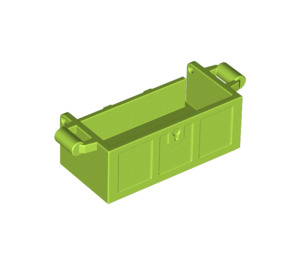 LEGO Lime Treasure Chest Bottom with Slots in Back (4738)
