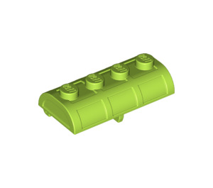 LEGO Lime Treasure Chest Lid 2 x 4 with Thick Hinge (4739 / 29336)