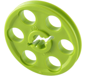LEGO Lime Wedge Belt Wheel (4185)