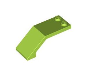 LEGO Lime Windscreen 5 x 2 x 1 & 2/3 (6070)