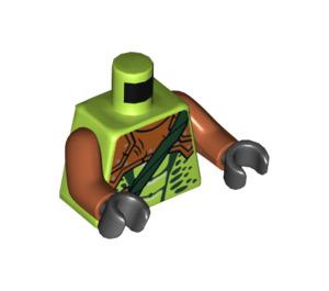 LEGO Lime Zoltar Snake Villain Minifig Torso (76382)