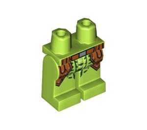 LEGO Lime Zoltar Snake Villain Minifigure Hips and Legs (25211)