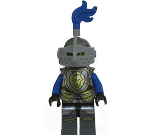 LEGO Lion Knight, Armor with Lion Shield, Blue Plume, Helmet with Visor, Angry Look Minifigure