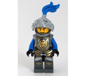 LEGO Lion Knight with Armour and 2 Sided Head (Determined/Scared) Minifigure