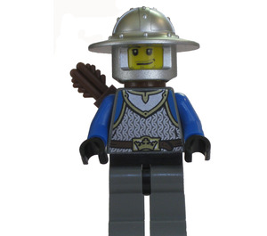 LEGO Lion Knight with Chain Mail, Broad Brim Helmet and Quiver Minifigure