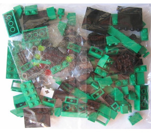LEGO Locomotive Green Bricks Set 3744