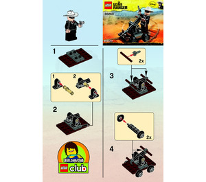 LEGO Lone Ranger's Pump Car Set 30260 Instructions