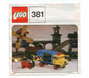 LEGO Lorry and Fork Lift Truck Set 381-1 Instructions