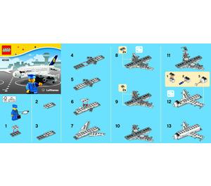 LEGO Lufthansa Plane Set 40146 Instructions