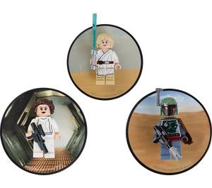 LEGO Luke Skywalker, Princess Leia and Boba Fett magnets (5002825)