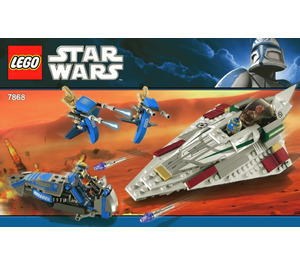 LEGO Mace Windu's Jedi Starfighter Set 7868 Instructions