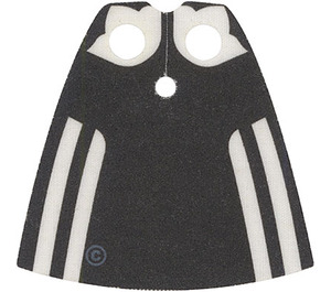 LEGO Madame Hooch Cape with Black Back Pattern with Regular Starched Texture (702)