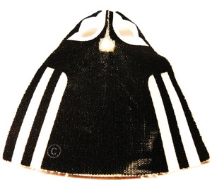 LEGO Madame Hooch Cape with White Stripes on Black Back Pattern with Regular Starched Texture (702)