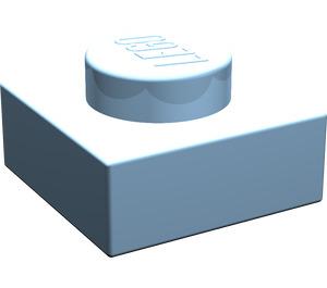 LEGO Maersk Blue Plate 1 x 1 (3024)