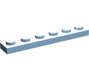 LEGO Maersk Blue Plate 1 x 6 (3666)