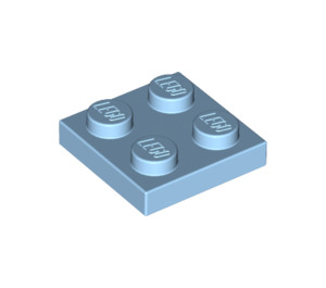 LEGO Maersk Blue Plate 2 x 2 (3022)