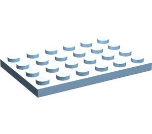 LEGO Maersk Blue Plate 4 x 6