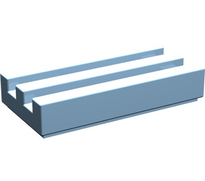 LEGO Maersk Blue Tile 1 x 2 Grille (with Bottom Groove) (2412)