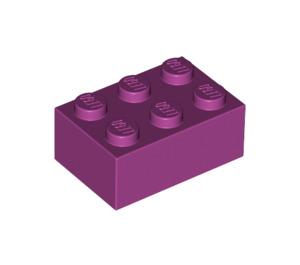 LEGO Magenta Brick 2 x 3 (3002)