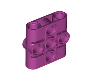 LEGO Magenta Connector Beam 1 x 3 x 3 (39793)