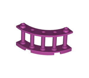 LEGO Magenta Fence Spindled 4 x 4 x 2 Quarter Round with 2 Studs (30056)