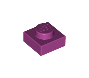 LEGO Magenta Plate 1 x 1 (3024)