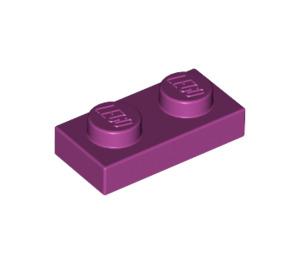 LEGO Magenta Plate 1 x 2 (3023)