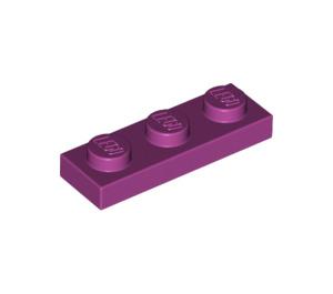 LEGO Magenta Plate 1 x 3 (3623)