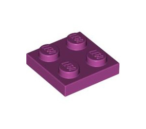 LEGO Magenta assiette 2 x 2 (3022)