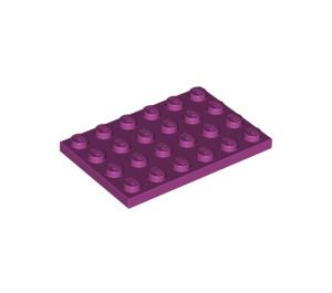 LEGO Magenta Plate 4 x 6 (3032)