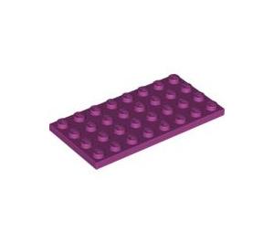 LEGO Magenta Plate 4 x 8 (3035)