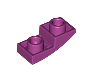 LEGO Magenta Slope Curved Inverted 1 x 2 x 0.6 (24201)