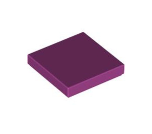 LEGO Magenta Tile 2 x 2 with Groove (3068)