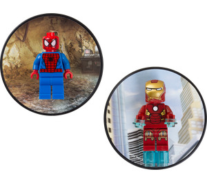 LEGO Magnet Set: Spiderman and Iron Man (5002827)