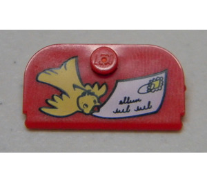 LEGO Mail Box Lid 4 x 2 with Envelope and Bird (33326)
