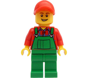 LEGO Male Farmer with Red Cap with Hole Minifigure