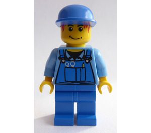 LEGO Male in Jeans Overall with Red Hair Minifigure
